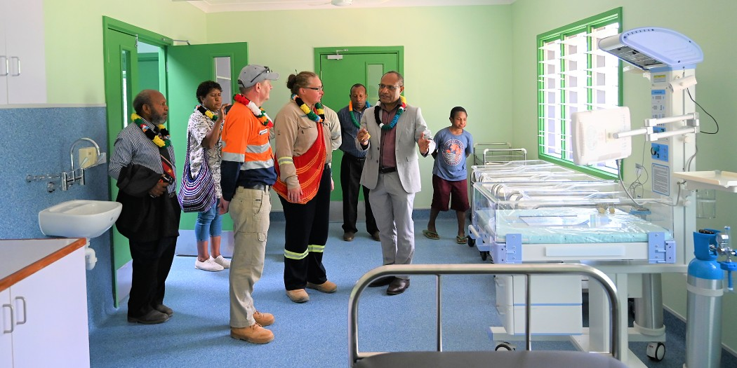 People of Juni get brand new health facility from ExxonMobil PNG
