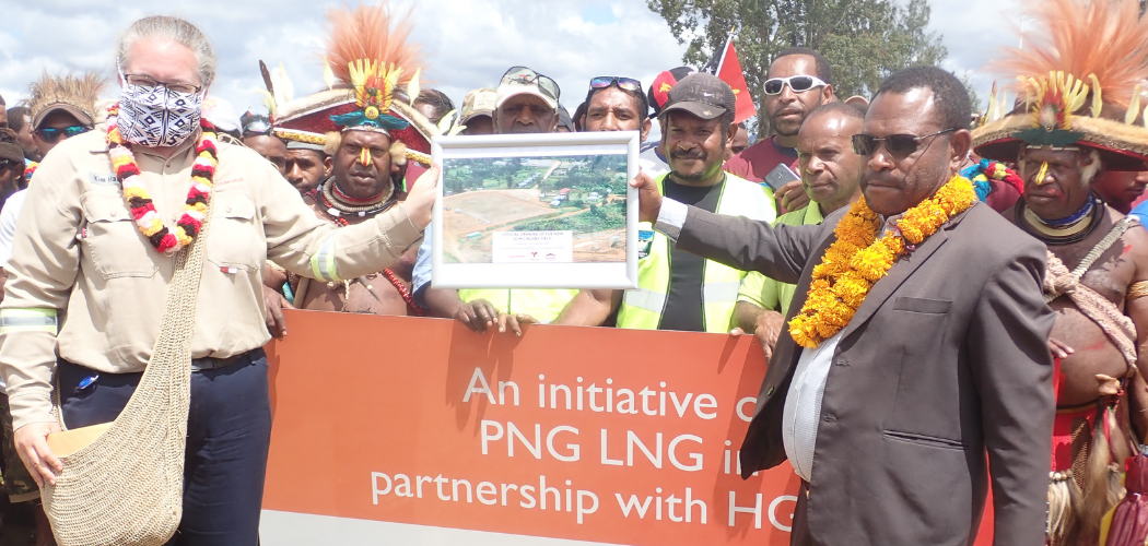 ExxonMobil PNG and HGDC hands over upgraded Rugby Field to Komo LLG